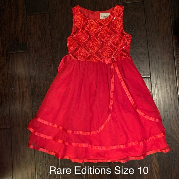 RARE EDITIONS NWT Girls Red Black Dress Christmas Holiday Special Occasion 2 2T